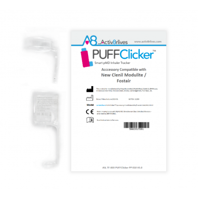 PUFFClicker Accessory Compatible with Clenil Modulite / Fostair (counter versions)
