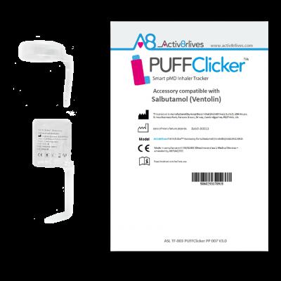 PUFFClicker Accessory compatible with Salbutamol (Ventolin®)