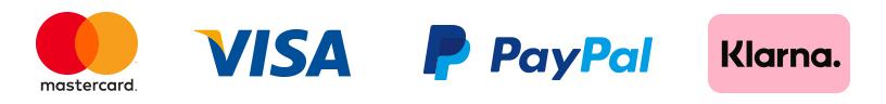 GooglePay, Mastercard, PayPal, Visa, Apple Pay accepted
